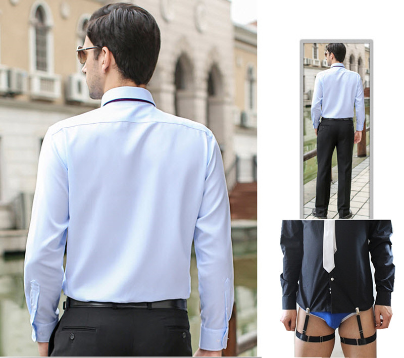 Mens Shirt Garters Stays Business Suspenders Braces Men
