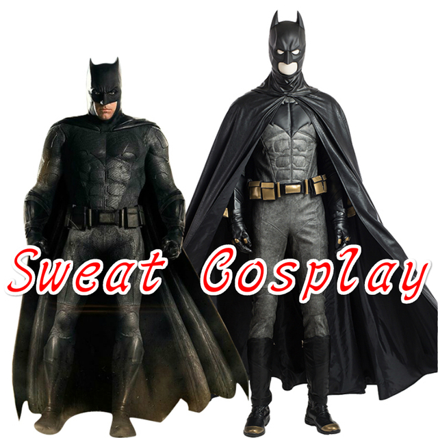 High Quality Justice League Batman Costume Superhero Halloween costumes for adult men Batman leather suit Cosplay  sc 1 st  AliExpress.com & High Quality Justice League Batman Costume Superhero Halloween ...