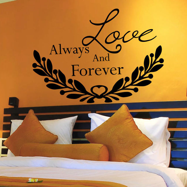 Wall Decal Quotes Love Always And Forever Decal Bedroom Home Decor Vinyl