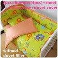 Descuento! 6 / 7 unids historieta de los niños 100% bebé cuna juegos de cama edredón de la cama cubierta del duvet, 120 * 60 / 120 * 70 cm