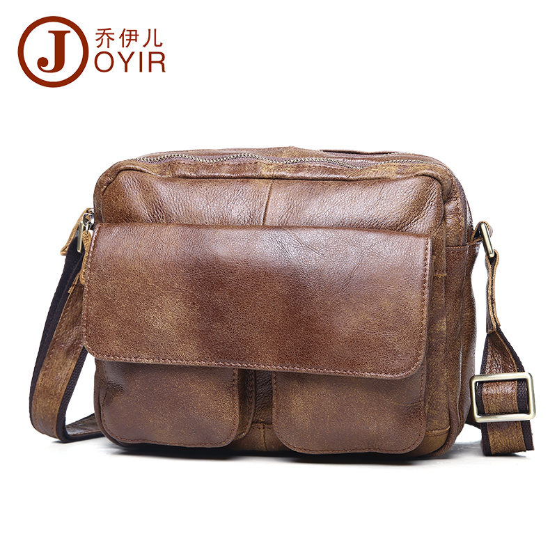 ФОТО Brand new fashion leisure leather men bag shoulder bag men first layer of leather Messenger bag retro tide package Free shipping
