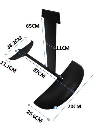 aluminum hydrofoil AD-H5 aluminium foil for SUP surfboard ,windsurfing 3k carbon wings