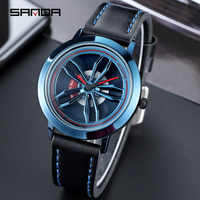 SANDA Armbanduhr Männer Uhren Mode Casual Stil Berühmte Marke Armbanduhren Männlichen Quarz Uhr Für Männer Uhr Rotierenden Rad Zifferblatt