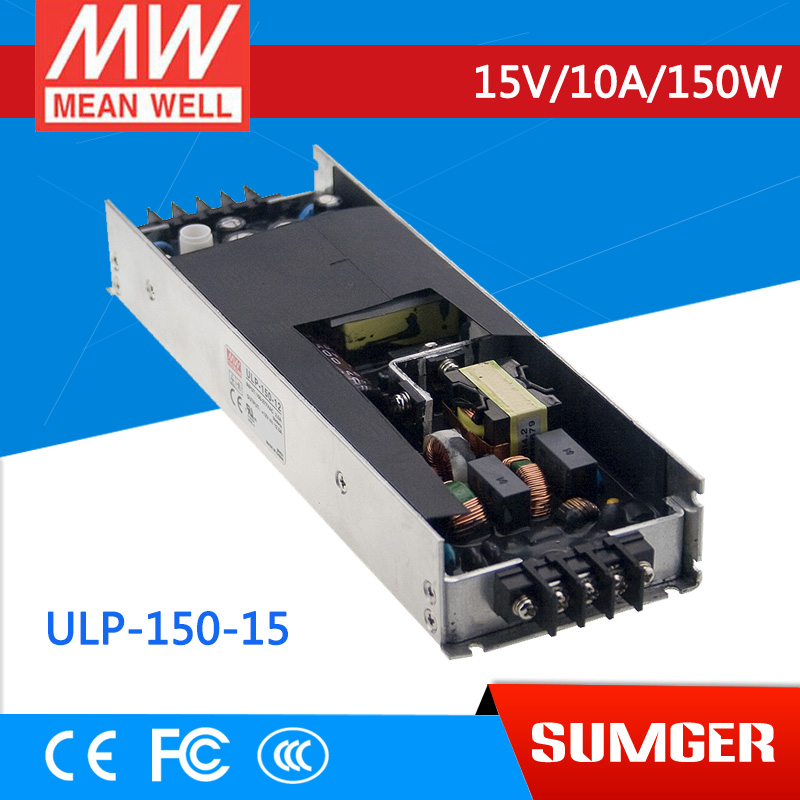 1MEAN WELL original ULP-150-15 15V 10A meanwell ULP-150 15V 150W U-Bracket with PFC Function Power Supply [mean well1] original epp 150 15 15v 6 7a meanwell epp 150 15v 100 5w single output with pfc function