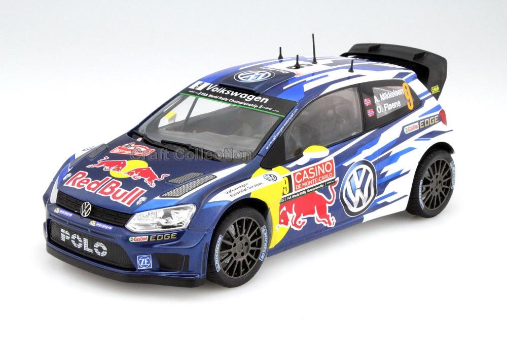 * Norev 1:18 Volkswagen POLO R WRC 9 Race Car Alloy Model Diecast Modell Auto Scale Models A. Mikkelsen & O. Floene