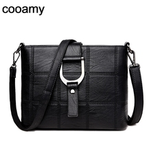 Small Crossbody Bags Women Shoulder Bags Plaid New PU Leather Luxury Handbags Cover Women Bags Designer High Quality Soft Sac doodoo 2017 new women pu soft handbags fashion style cover satchels patchwork shoulder bags c c channel high quality versatile