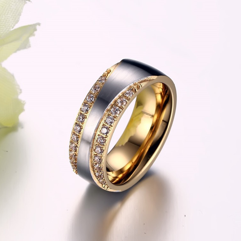2016 New Couple Ring for Women and Men Love Ring Quality Stainless - Fashion Jewelry - Photo 3