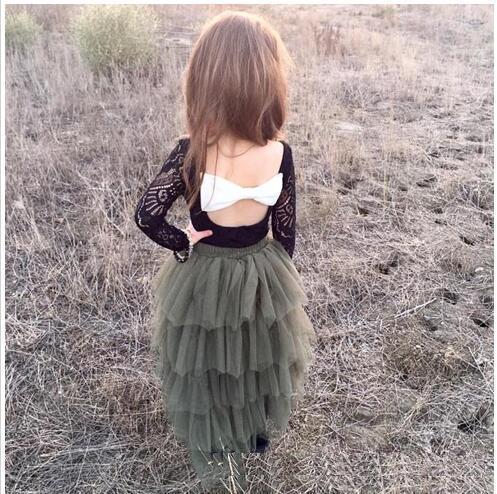 2017 Muchachas Del Cordón Del Bebé del tutú Faldas Falda de La Torta de Navidad Para Niños Chicas Princesa de tul Faldas de Los Bebés del Otoño ropa Para Niños