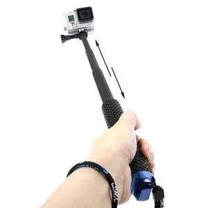 Image 3 - Wysuwany słupek Mini Selfie Stick wodoodporny niebieski Monopod dla GoPro Hero 4/3/3 +