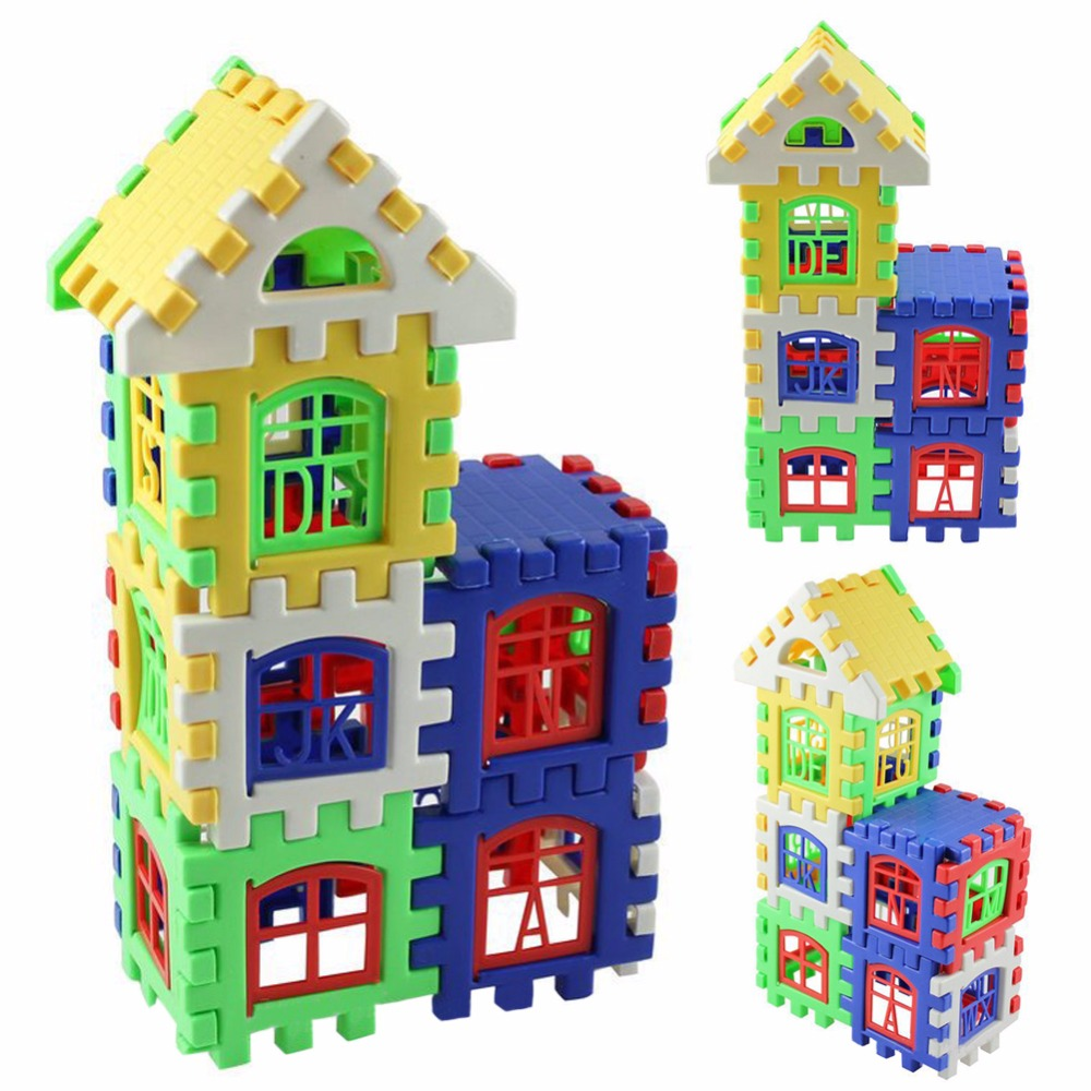 24 Pcs/Set Baby Kids House Building Blocks Educational Learning Construction Developmental Toy Set High Quality Brain Game Toy 48pcs good quality soft eva building blocks toy for baby