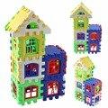 Bebê Crianças Casa Blocos de Construção Construção de Aprendizagem Educacional Developmental Toy Definir Brinquedo Do Jogo Do Cérebro 24 Pcs
