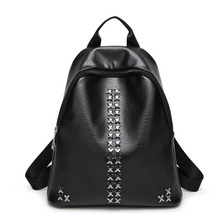 SUONAYI PU Leather Women Backpack Female Popular Style Ladies Bag Zipper Fashion Backpacks