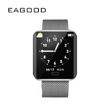 Купить с кэшбэком EAGOOD Smart Watch Men Women Blood Pressure Heart Rate Tracker Sports SmartWatch Fitness Digital Wristwatch Bluetooth Pedometer