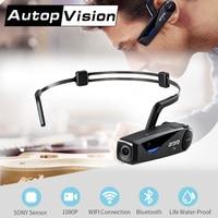 LC 0816GB 1080P Full HD Action Mini Camera Bone Conduction Bluetooth Headset Cycling DV Video Recorder