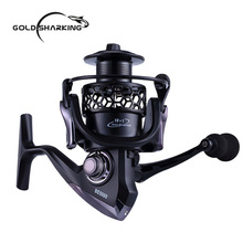 Gold Sharking 12+1BB metal Arm Spinning Fishing Reel 1000-7000 Series EVA Handle Fishing Reels Gapless Metal Head Spinning Wheel