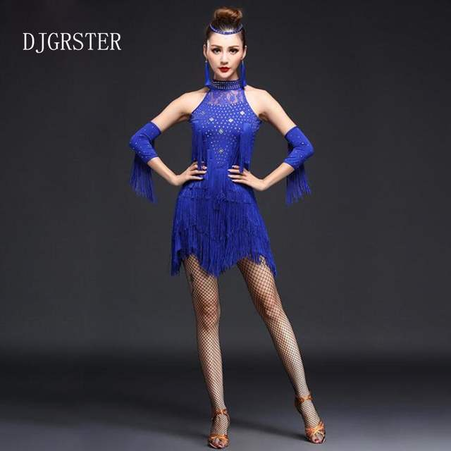 3441b5a4422b placeholder DJGRSTER Latin Dance Competition Costumes Professional Dresses  Ballroom Dance Costumes Womans Adult Salsa Dancing Tango Clothes