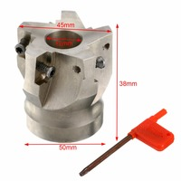 1pc 50mm BAP400R 50 22 5F Indexable Face Mill Milling Cutter For APKT 1604 Insert Hevy