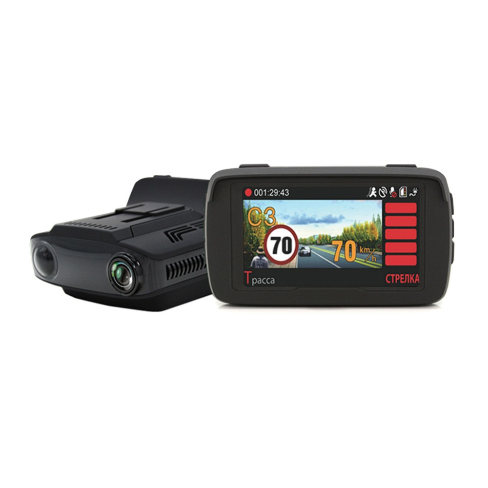 3 in 1 1080P DVR Car Radar Detectors Ambarella A7 Auto GPS LDWS Video Recorder Registrar DashCam for English Russian Language