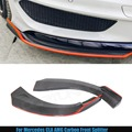 Carbon Fiber Front Splitter Flap With Red Line For Mercedes - Benz CLA Class W117 CLA250 CLA260 CLA45 AMG Piecha Styling Bumper