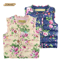 New Winter Children Vest Floral Printed Girls Waistcoat 2-7 Years Kids Warm Down Coat Children Clothing Baby Girl Vest Outerwear