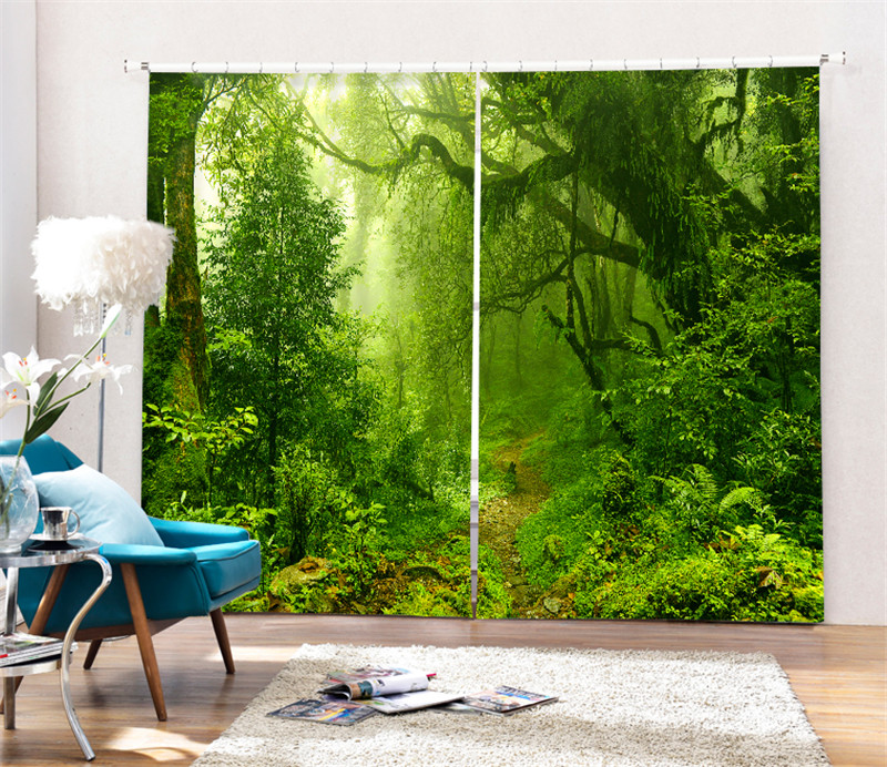 Magic forest Luxury Blackout 3D Curtains For Living room Bedding room Office Drapes Cotinas para salaMagic forest Luxury Blackout 3D Curtains For Living room Bedding room Office Drapes Cotinas para sala