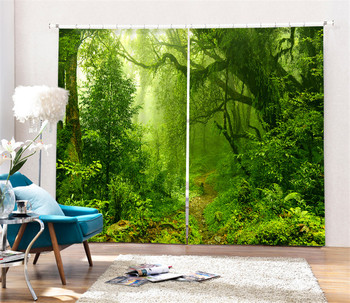 Magic forest Luxury Blackout 3D Curtains For Living room Bedding room Office Drapes Cotinas para sala