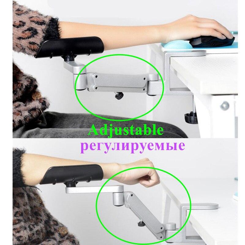 Ordinateur ergonomique satisfait métal bras Support réglable main glisser poignet Support ordinateur souris pad main ordinateur Support console - 4