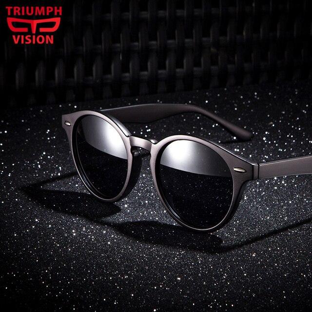 dd44307857577 TRIUMPH VISÃO Retro Rodada Estilo oculos de sol Unissex Óculos De Sol Do  Círculo Do Vintage