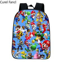 Fashion Style Printing Super Mario Kindergarten Infantile Small Backpacks for Kids Baby Cartoon School Bags Children Schoolbag(China)