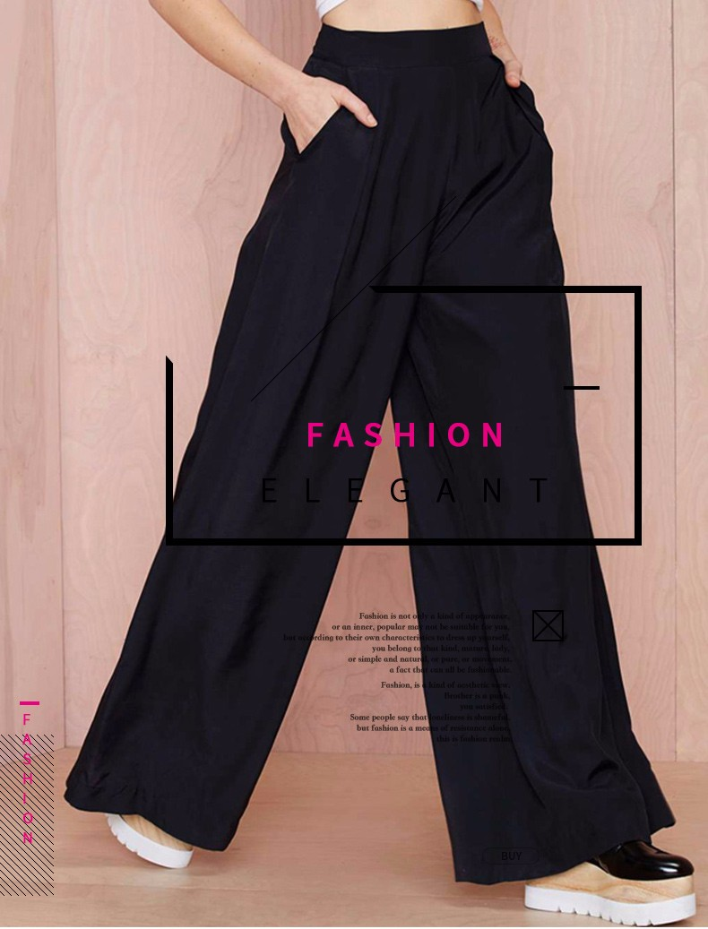 Laia lõikega mustad püksid