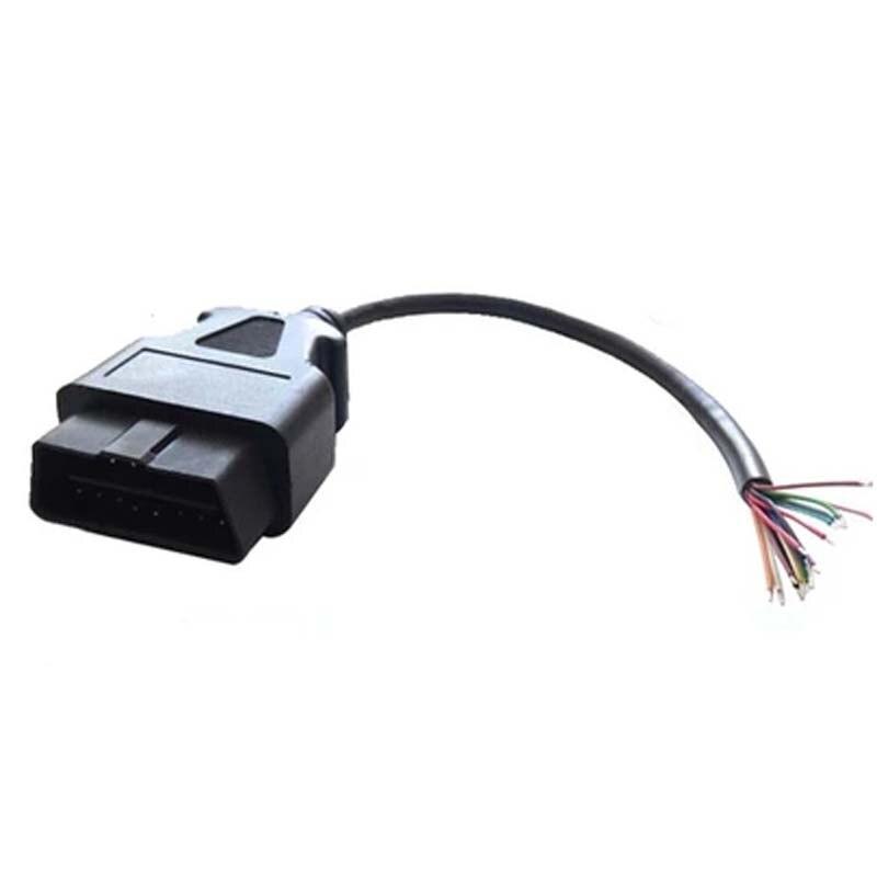 Prix pour 5 pcs/lote OBD2 16pin connecteur mâle pour ouvrir OBD câble OBDII OBD - ii ODB2 16 pino ELM327 OBD 2 adaptateur voiture Scanner connecteur