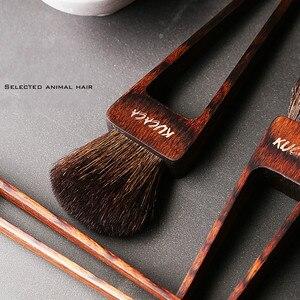 Image 2 - Beautypapa Juego de brochas de maquillaje, diseño de triángulo, pelo de cabra, colorete, sombra de ojos, profesional, hecho a mano