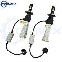 1 Set H4 Auto Led Headlight 60W 6400LM 6500K Super White Bright Auto Bulbs Kit Lamps
