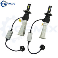 1 Set H4 Auto Led Headlight 60W 6400LM 6500K Super White Bright Auto Bulbs Kit Lamps