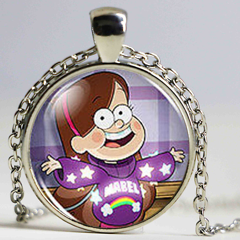 Drama Gravity Falls Mabel BILL CIPHER WHEEL Steampunk Pendant Necklace doctor dr who 1pcs lot chain