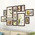 12 шт. натуральные растительные фоторамки наборы для дивана фон свежие большие фоторамки для картин ретро рамки для семейных картин
