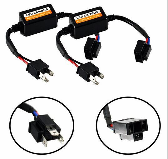 Hi//Lo HB2 9003 H4 1700W LED Headlight Bulbs/&Canbus Decoder Anti-Flicker Resistor