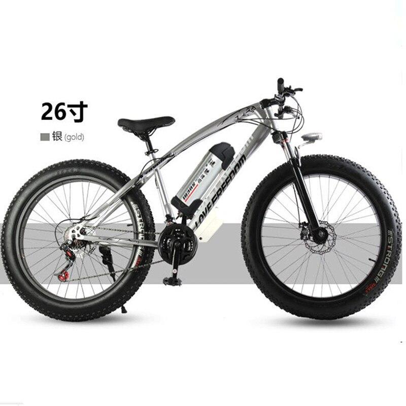 Электрический велосипед 36 В 10.8ah 350 Вт 7 Скорость Мощный электрический велосипед литиевая батарея электрический велосипед 26 х 4 крест -страна...