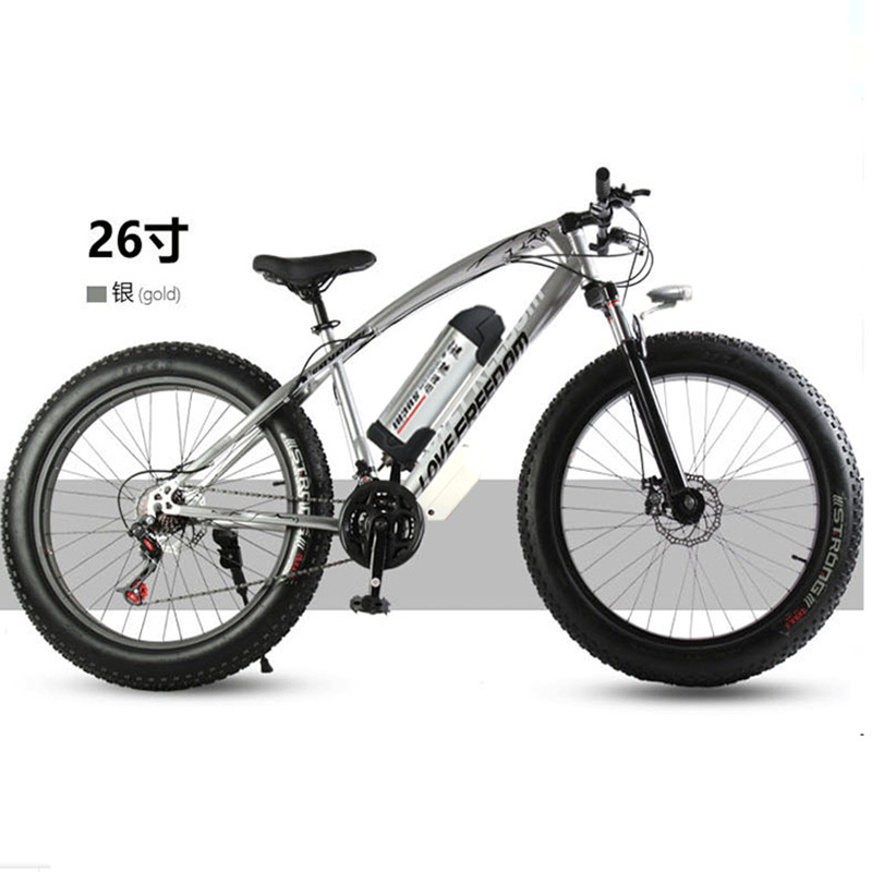 Electric bicycle 36V 10.8ah 350W 7 speed powerful electric bicycle lithium battery electric bicycle 26 x 4 cross-country bicycl