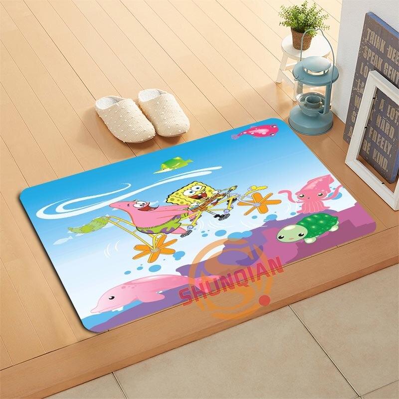 Custom Spongebob Doormat Bath Mats Foot Pad Home Decor ...