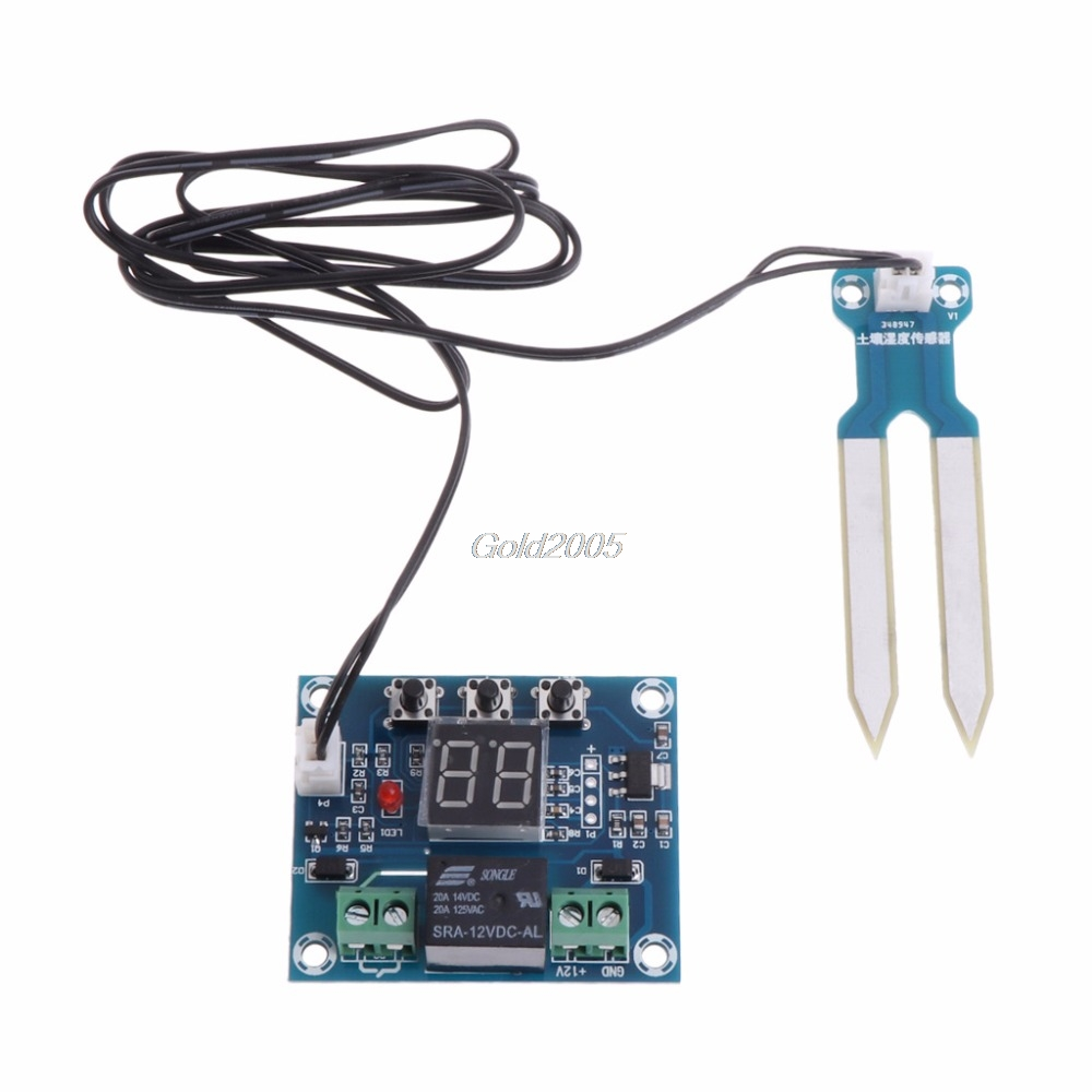 12V Soil Humidity Sensor Controller Irrigation System Automatic Watering Module Digital Humidity Controller G25 Drop ship 5pcs rain sensor water raindrops detection module automatic watering rain weather module humidity for arduino raspberry pi