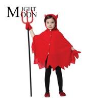 MOONIGHT Playful Red Devil Costume Halloween Evil Witch Costume Cos The Kindergarten Children Play Dress