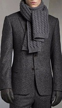 Charcoal Grey Brushed Custom Made Heavy Wool Blend Suit