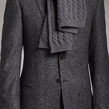 Suits Tailored Custom-Made Wool-Blend Grey for Winter Fit Brushed Charcoal Men