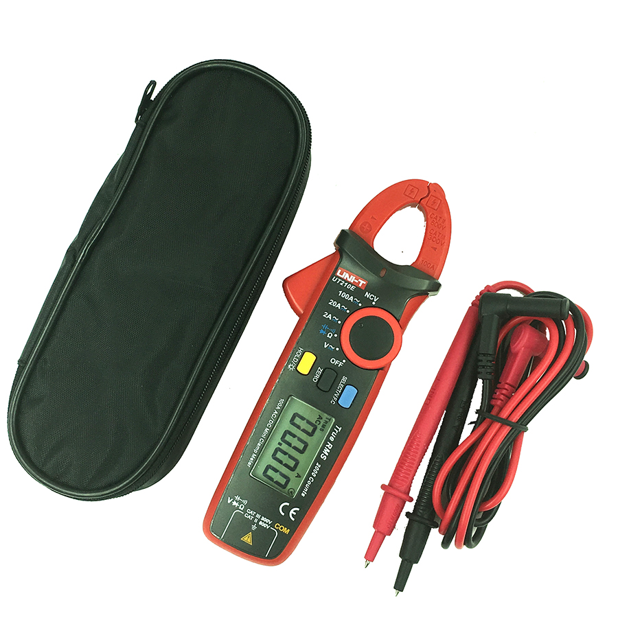 UNI-T UT210E Digital Clamp Meter Multimeter Auto Range AC VC current voltage Resistance Capacitance frequency tester meter uxcell digital multimeter ac voltage current resistance capacitance frequency temperature tester meter 600mv 6v 60v 600v 1000v