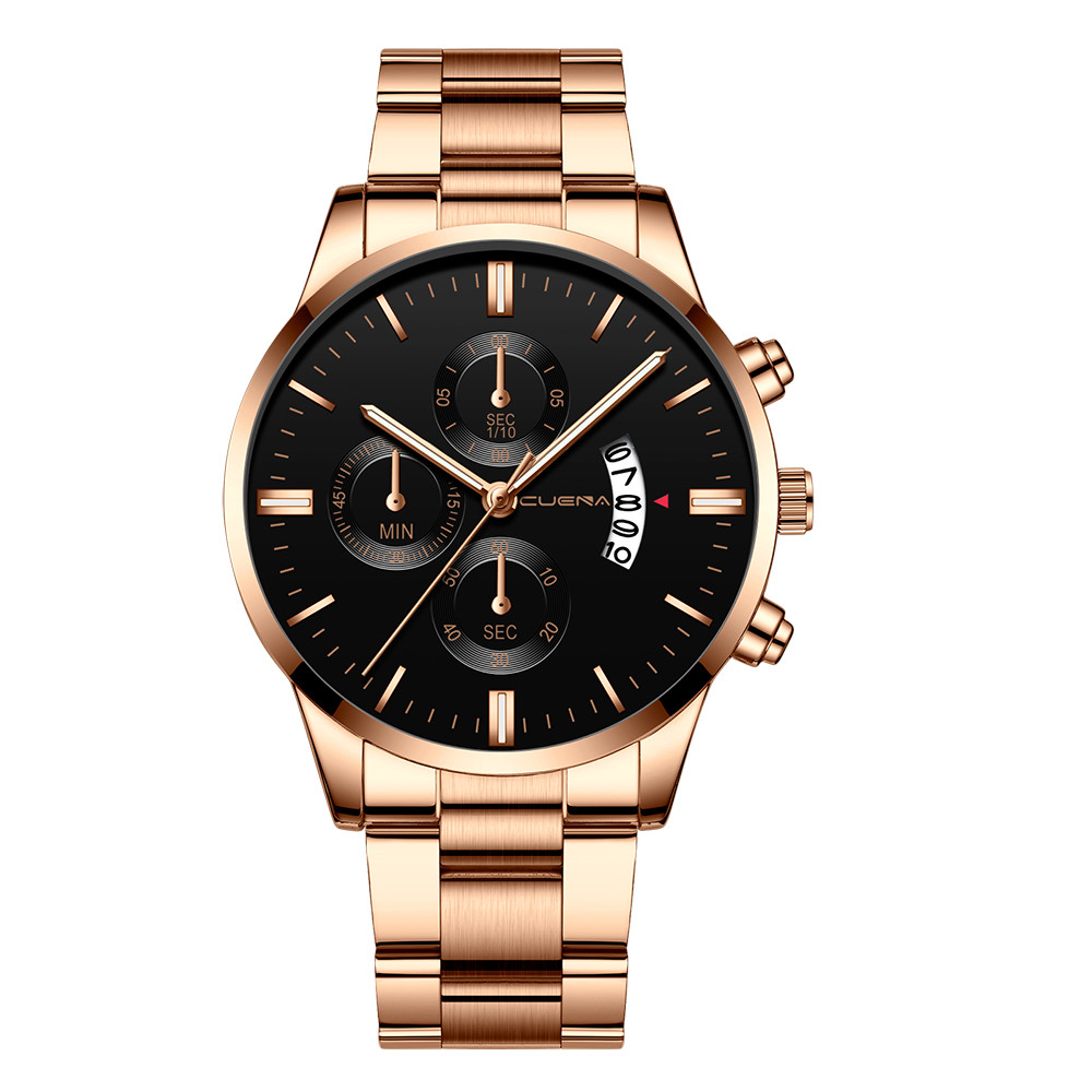 Mens watch top brand luxury CUENA Men Fashion Military Stainless Steel Analog Date Sport Quartz Wrist Watch montre hommeMens watch top brand luxury CUENA Men Fashion Military Stainless Steel Analog Date Sport Quartz Wrist Watch montre homme