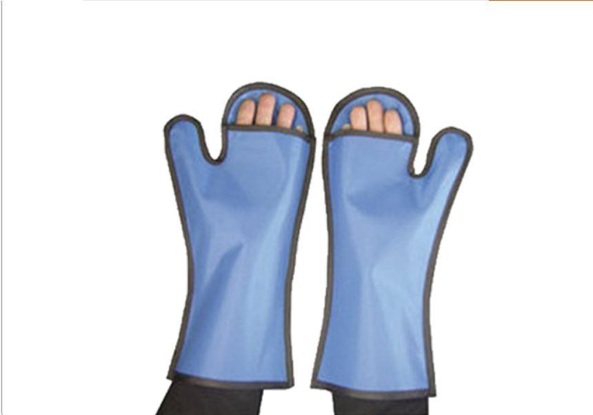 0.5 mmpb veterinaria x-ray guanti protettivi, Y-ray animale medici usano guanti. guanti di Dispersione.