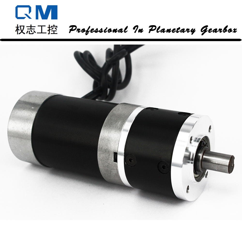 Gear dc motor planetary reduction gearbox ratio 4:1 nema 23 120W brushless dc motor 24V bldc motor high quality 5n m 42 42 119 7mm brushless dc motor with planetary gearbox reduction ratio 104 8