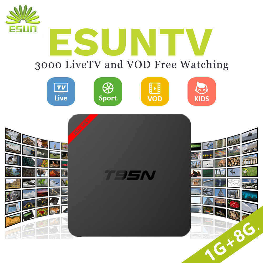 2018 Europe/Arabic IPTV Box Android T95N 6.0 TV Box With 1 Year UK SPAIN ITALY Germany Sweden Albania XXX portugal channels esuntv x96 android7 1box 2g 16g with 1 year europe spain sweden portugal germany albania portugal iptv smart tv box set top box