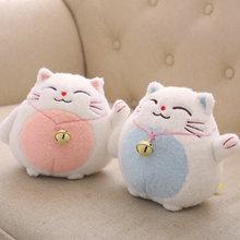 Janpan Anime cat plush toy lucky cat Action figure Calling bring money & rich Cat stuffed soft doll mini plush toy kids toys